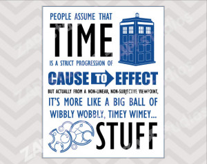 Timey Wimey Doctor Who Quote 8x10 Printable File -Instant Download-