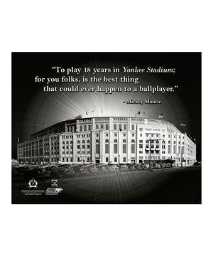 Another great find on #zulily! Mickey Mantle Yankee Stadium Pro Quote ...