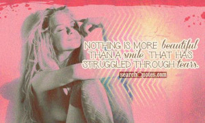 Nothing is more beautiful than a smile that has struggled through ...