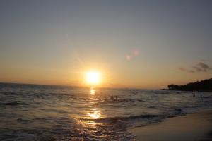 Beach Tumblr Quotes Sunset on beach at el tunco