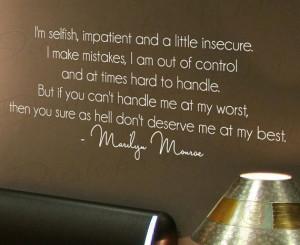 marilyn monroe im selfish selfish family quotes selfish family quotes