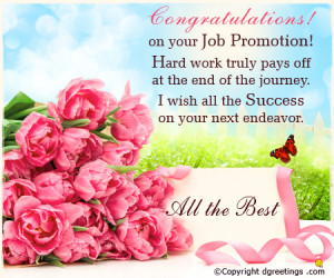 Congratulations Promotion Message Congratulation on your
