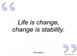 imagem life is change