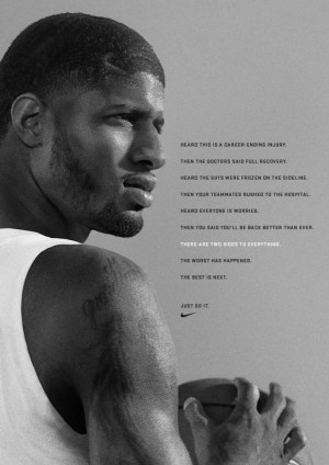 Check out Nike's ad for George and comment below.
