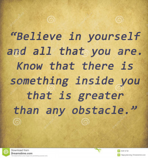 ... of ` Inspirational quote by Christian D. Larson on old paper bac