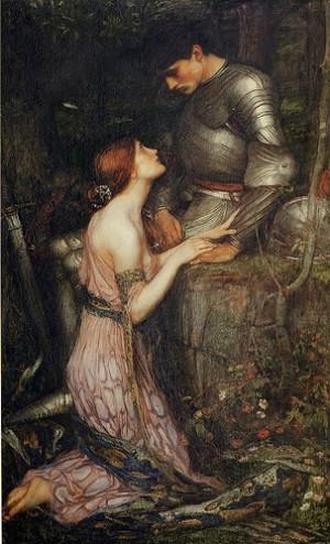 19th century, art, jw waterhouse, knight, lamia, mediaeval, painting ...