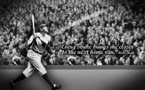 Babe Ruth, BW, Basball, New York Yankees, MLB, Strike HD large ...
