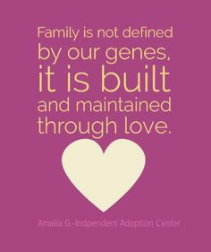 Built and maintained through love. #adoption More