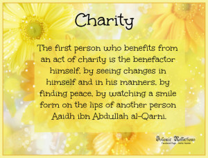 CHARITY QUOTES IN ISLAM