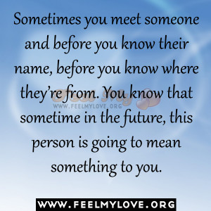 meet you in person meaning