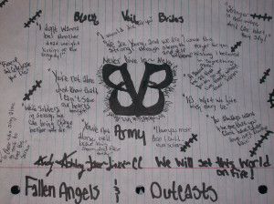 black veil brides quotes from songs