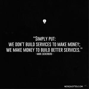 Inspiring Mark Zuckerberg Success Quotes – Simply put we don't ...