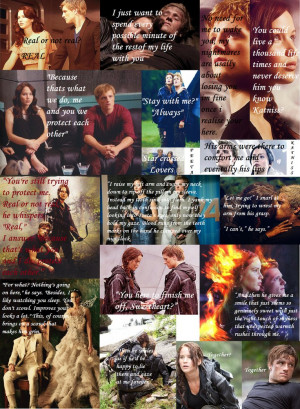 Katniss and Peeta Quotes by Flangee
