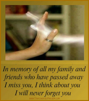 In memory of family and friends who have passed away.