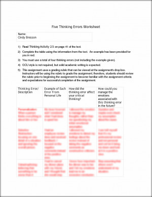Worksheets Criminal Thinking Worksheets free criminal thinking errors worksheets quotes quotesgram