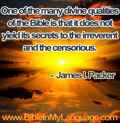 don't know much about J. I. Packer, but I have found this to be true