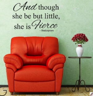 Shakespeare Quote (Though she may...) - Vinyl Wall Art