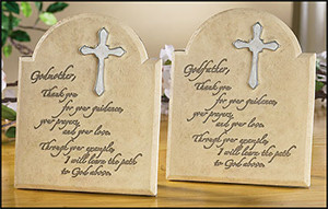 godparents plaque set the perfect gift for new godparents