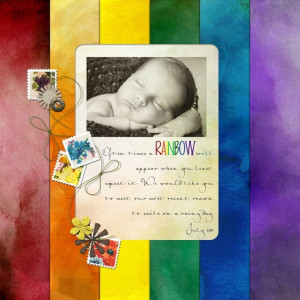 rainbow baby layout... this actually made me tear up. Hope I get to do ...