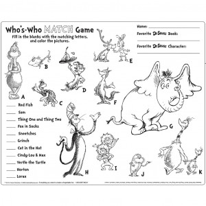 Dr Seuss Coloring Pages Dr seuss coloring pages