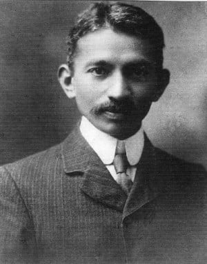 Gandhi as a young man in South Africa