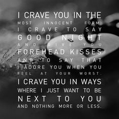 ... YOU!!!!! I Miss YOU Baby!!!! I crave YOU & need U in my arms