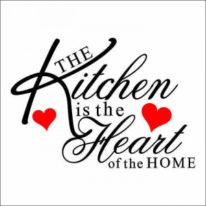 Kitchen Heart Removable Wall Stickers