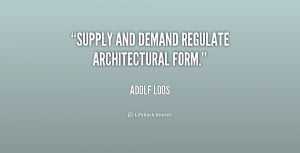 Supply and Demand Quotes