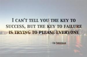 Singer ed sheeran best quotes and sayings key success