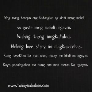Love Quotes Tagalog Sad Story