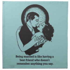 Funny Quotes about Marriage Napkin