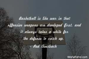 basketball-Basketball is like war in that offensive weapons are ...