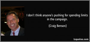 The Campaign Quotes Limits in the campaign.