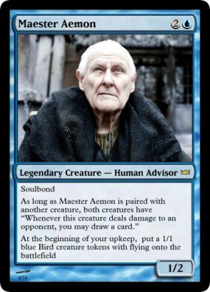 Maester Aemon A game of thrones: summer's