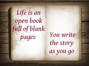 Quotes-about-life-open-book-blank-pages-story
