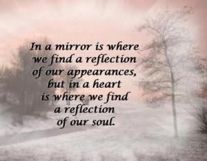 Mirror Quotes In a mirror