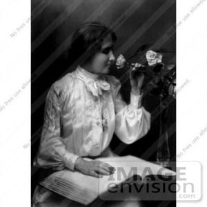 Helen Keller Reading