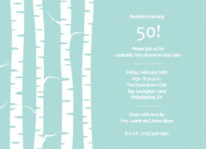 50th birthday party invitation by PurpleTrail.