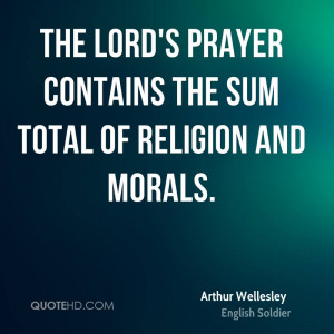 Arthur Wellesley Religion Quotes