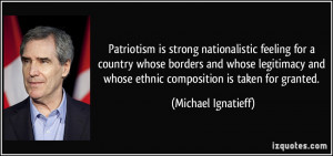 Patriotism is strong nationalistic feeling for a country whose borders ...