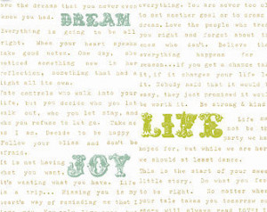Quotes Fabric - Love Notes Yolo (natural) Fabric by Echo Park Paper Co ...
