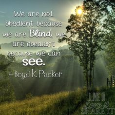 President Boyd K. Packer- quotes