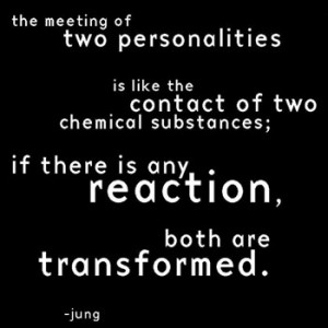 ... Of Two Personalities Is Like The Contact Of Two Chemical Substances