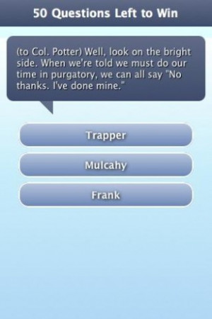 View bigger - MASH TV Quote Trivia Game for Android screenshot