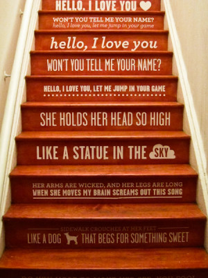 Cool Staircase with quotes