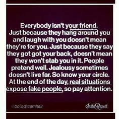 ... go along with trying to be friends with shady, trashy people. More