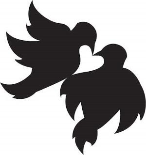 love birds cli item 1 original love birds in tree bird on branch clip ...