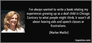 Deaf Quotes Tumblr More marlee matlin quotes