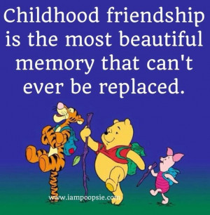 Childhood friendship quote via www.IamPoopsie.com