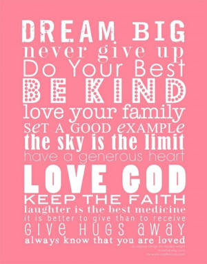 Quotes to live by / Ava's Big Girl Room Inspiration | Perfectly ...